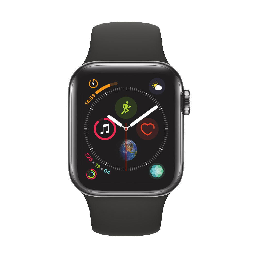 AppleWatch Series4 GPS+Cellular Space Black Stainless Steel Case with Black Sport Band