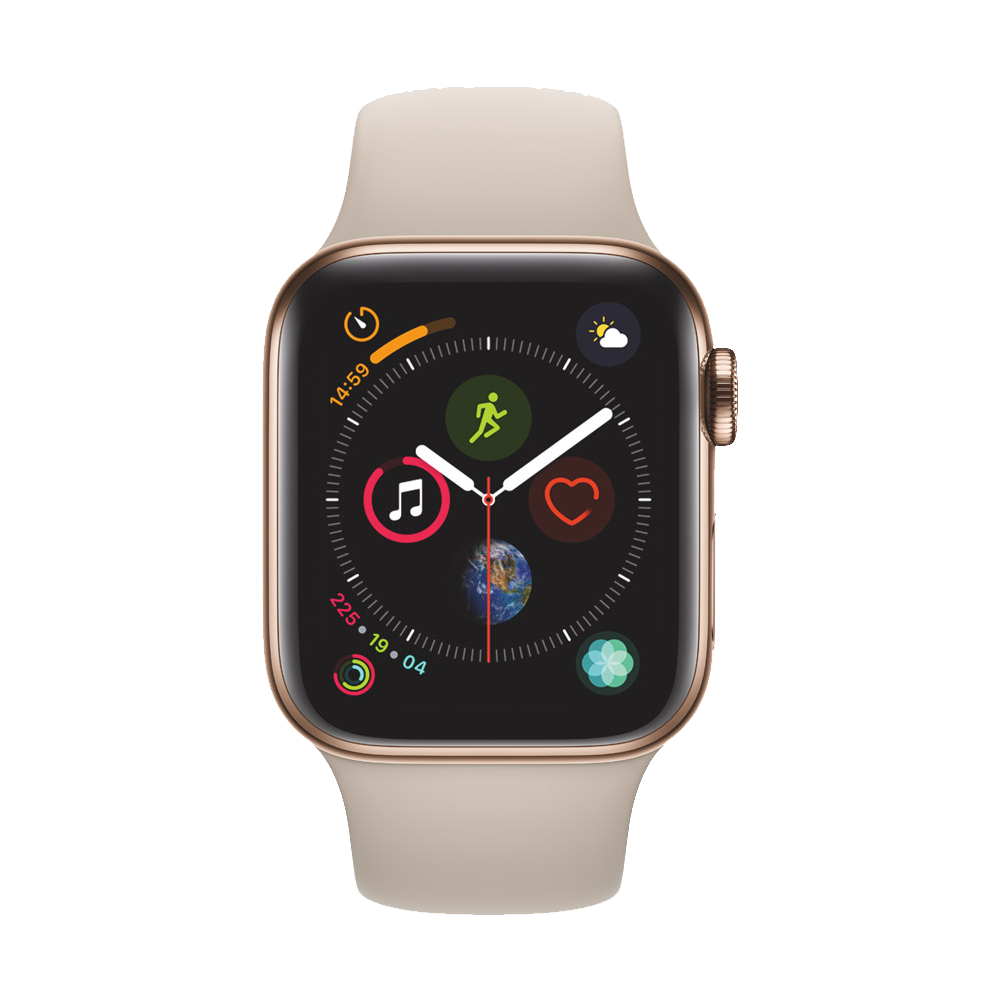 AppleWatch Series4 GPS+Cellular Gold Stainless Steel Case with Stone Sport Band