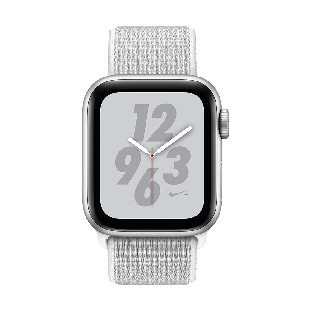 AppleWatch Nike+ Series4 GPS+Cellular Silver Aluminium Case with Summit White Nike Sport Loop