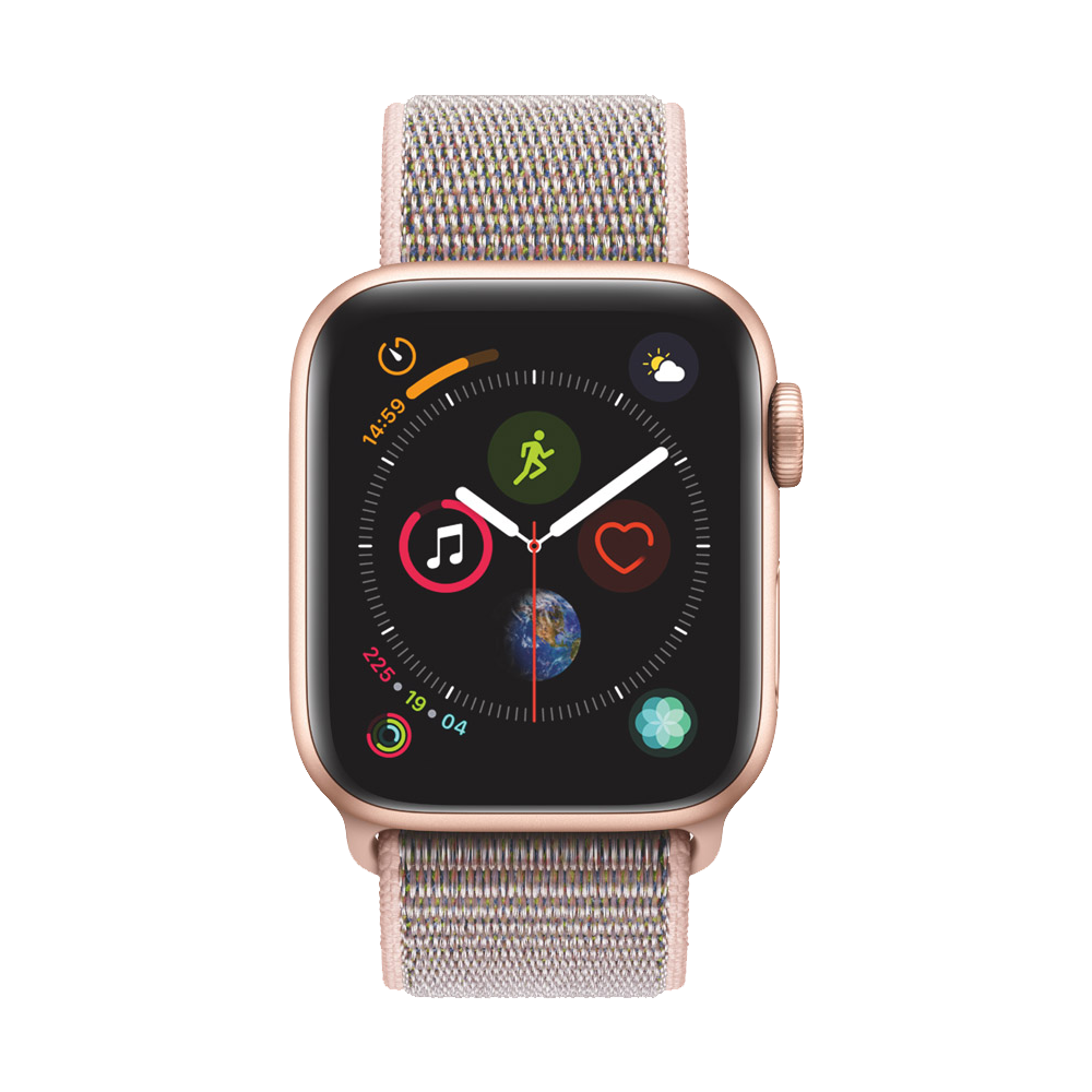 AppleWatch Series4 GPS+Cellular Gold Aluminium Case with Pink Sand Sport Loop