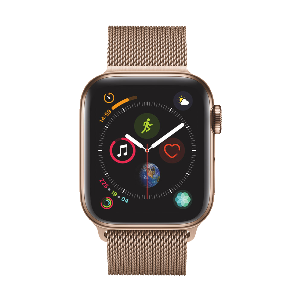 AppleWatch Series4 GPS+Cellular Gold Stainless Steel Case with Gold Milanese Loop