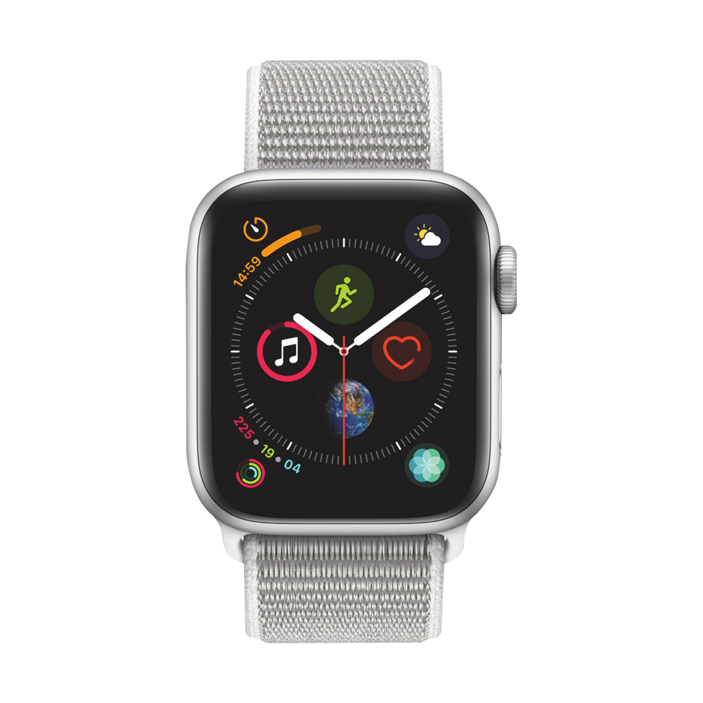 AppleWatch Series4 GPS+Cellular Silver Aluminium Case with Seashell Sport Loop