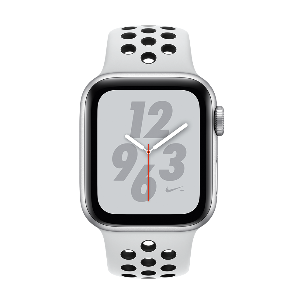Apple Watch Nike+ Series 4 GPS + Cellular Silver Aluminium Case with Summit White Nike Sport Loop