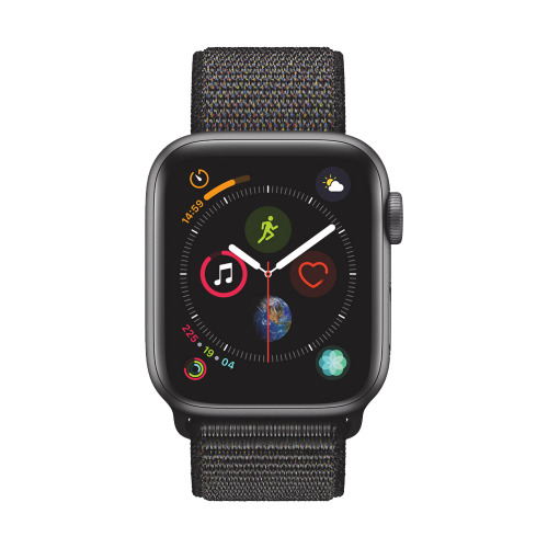 AppleWatch Series4 GPS+Cellular, 40mm Space Grey Aluminium Case with Black Sport Loop