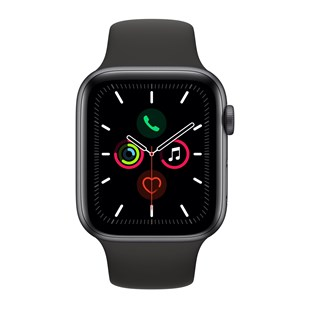 Apple Watch Series 5 GPS + Cellular 44mm Space Grey Aluminium Case with Black Sport Band - S/M & M/L