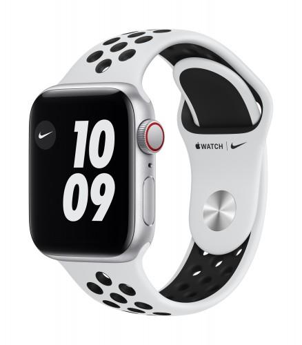 Apple Watch Nike SE GPS + Cellular, 44mm Silver Aluminium Case with Pure Platinum/Black Nike Sport Band - Regular | Unicorn Store