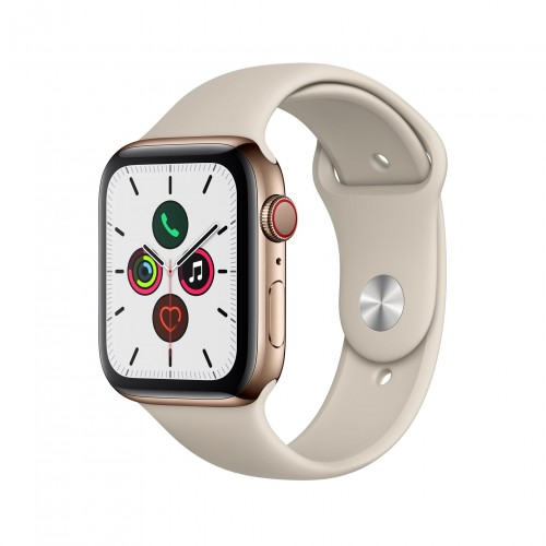 Apple Watch Series 5 GPS + Cellular 40mm Gold Stainless Steel Case with Stone Sport Band - S/M & M/L