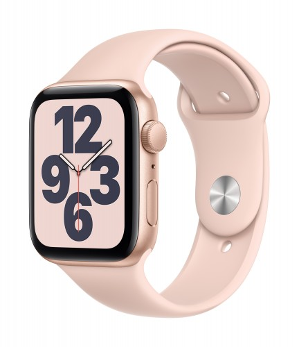 Apple Watch SE GPS, 40mm Gold Aluminium Case with Pink Sand Sport Band - Regular | Unicorn Store