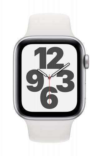 Apple Watch SE GPS, 40mm Silver Aluminium Case with White Sport Band - Regular | Unicorn Store