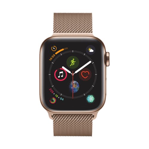 Apple Watch Series 4 GPS + Cellular, 40mm Gold Stainless Steel Case with Gold Milanese Loop