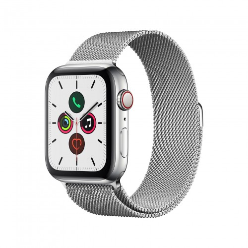Apple Watch Series 5 GPS + Cellular 40mm Stainless Steel Case with Stainless Steel Milanese Loop
