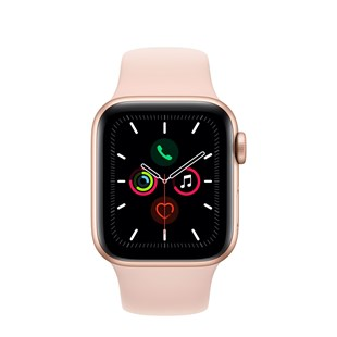 Apple Watch Series 5 GPS + Cellular 40mm Gold Aluminium Case with Pink Sand Sport Band - S/M & M/L