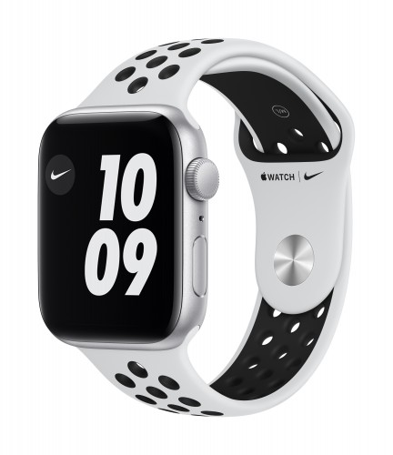 Apple Watch Nike SE GPS, 44mm Silver Aluminium Case with Pure Platinum/Black Nike Sport Band - Regular | Unicorn Store