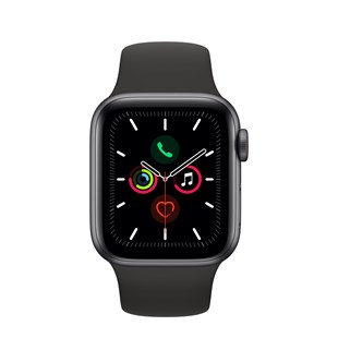 Apple Watch Series 5 GPS + Cellular 40mm Space Grey Aluminium Case with Black Sport Band - S/M & M/L