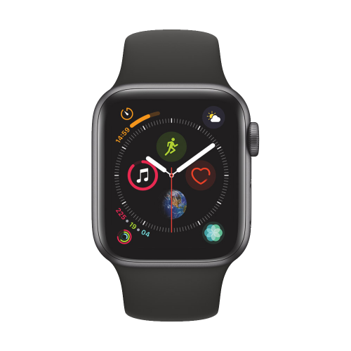 AppleWatch Series4 GPS+Cellular, 40mm Space Grey Aluminium Case with Black Sport Band