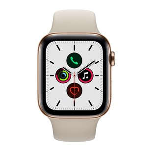 Apple Watch Series 5 GPS + Cellular 44mm Gold Stainless Steel Case with Stone Sport Band - S/M & M/L