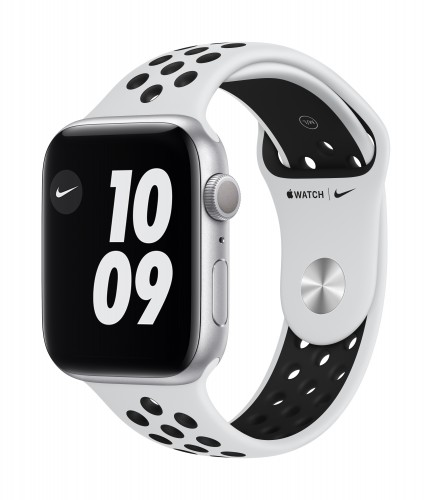 Apple Watch Nike Series 6 GPS, 44mm Silver Aluminium Case with Pure Platinum/Black Nike Sport Band - Regular | Unicorn Store