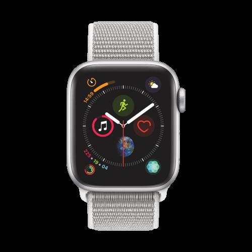AppleWatch Series4 GPS, 40mm Silver Aluminium Case with Seashell Sport Loop