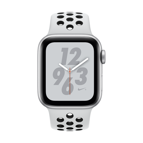 Apple Watch Nike+ Series 4 GPS + Cellular, 40mm Silver Aluminium Case with Pure Platinum/Black Nike Sport Band