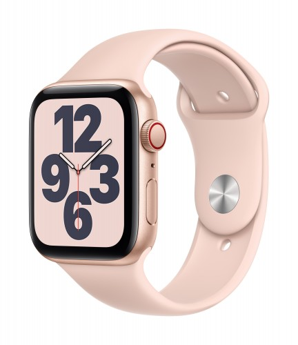 Apple Watch SE GPS + Cellular, 40mm Gold Aluminium Case with Pink Sand Sport Band - Regular | Unicorn Store