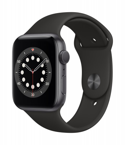 Apple Watch Series 6 GPS Space Gray Aluminium Case with Black Sport Band - Regular | UnicornStore